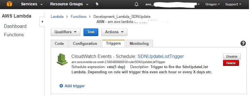 AWS Trigger
